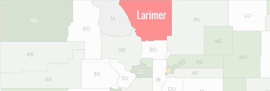 Larimer County Map
